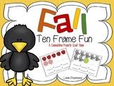 Fall Ten Frame Fun - A Commutative Property Scoot Game