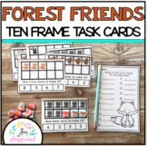 Forest Friends Ten Frame Task Cards Making Ten With Forest Friends Center