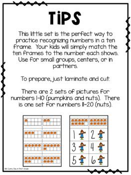 Fall Ten Frame Matching!