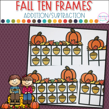 Fall Ten Frames- Addition and Subtraction Practice 1-20   TpT