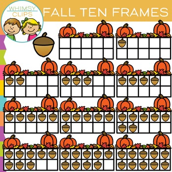 Ten Frames for Fall Clip Art