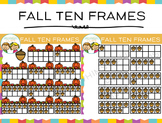 Ten Frames for Fall Clip Art