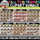 Fall Ten Frames Clipart Bundle {Fall Clipart}