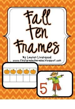 Fall Ten Frames {Freebie}