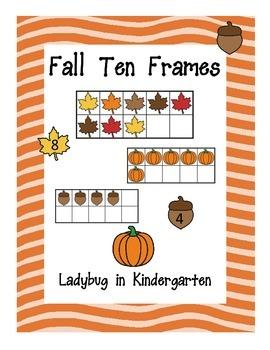 Fall Ten Frames Fun