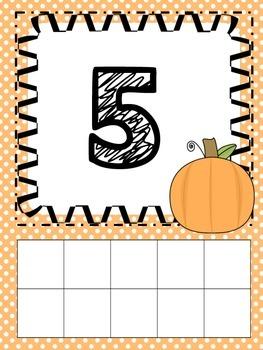 Fall Ten Frames Mat