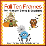 Fall Math Ten Frames Set