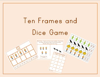 Fall Ten Frames and Dice Games
