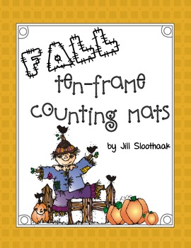Fall Ten-frame Counting Mats (Numbers 1-10)