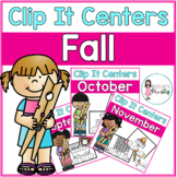 Fall Tens Frame Clip It Centers