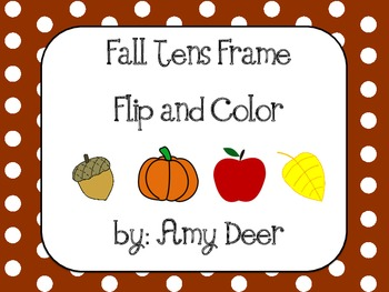 Fall Tens Frame Flip and Color