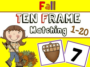 Fall Tens Frame Matching Game (Number Sense)