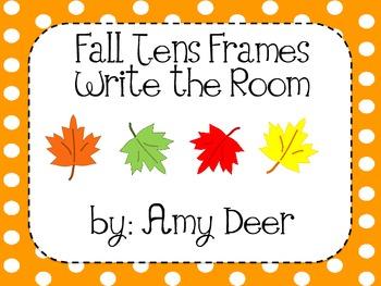 Fall Tens Frames: Write the Room