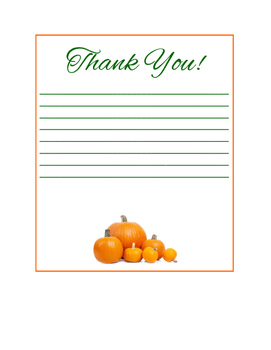 Fall Thank You Notes for Teachers