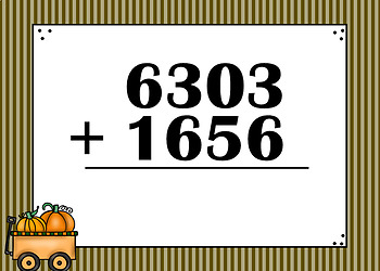 4 Digit Addition Boom Cards (Digital Task Cards) Thanksgiving Themed