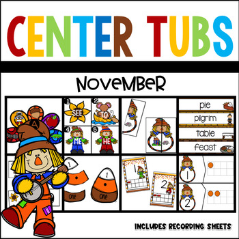 Fall Thanksgiving Center Tubs