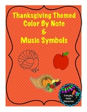 Fall/Thanksgiving Color By Music Note, Music Symbol, &  Beats Worksheet Bundle!