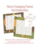 Fall Number Words & Doubles Math Game