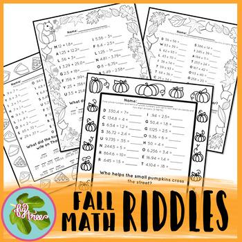 Fall & Thanksgiving Math Riddles