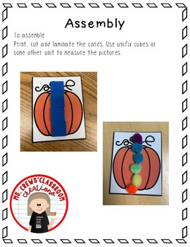 Fall/Thanksgiving Measuring Cards
