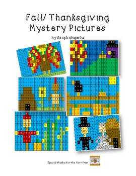 Fall/ Thanksgiving Mystery Pictures (200 chart)