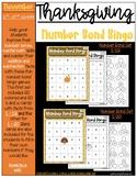 Fall Thanksgiving Number Bond Bingo