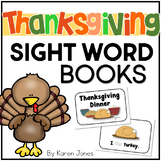Fall & Thanksgiving Sight Word Books -- Set of 5 Emergent Readers