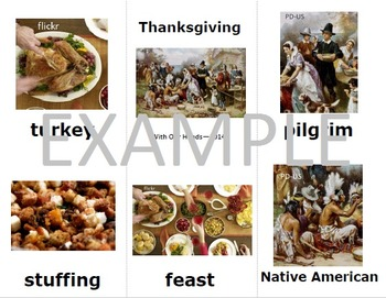 Fall/Thanksgiving Sign Language (ASL) Vocabulary Cards