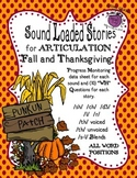 "Fall/Thanksgiving Sound Loaded Stories for Articulation with ""wh"" Questions"