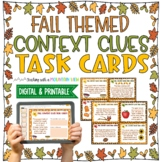 Fall & Thanksgiving Themed Context Clues Task Cards (Grade 3-6)