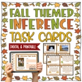 Fall & Thanksgiving Themed Inference Task Cards { Pictures