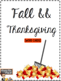 Fall & Thanksgiving Word Cards
