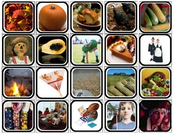 """""""Fall & Thanksgiving"""" Words/Matching/Memory Game/Flashcards for Autism"""