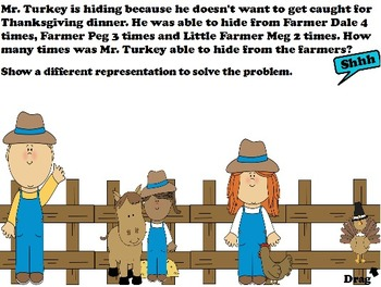 Fall / Thanksgiving story problems Common Core 1st
