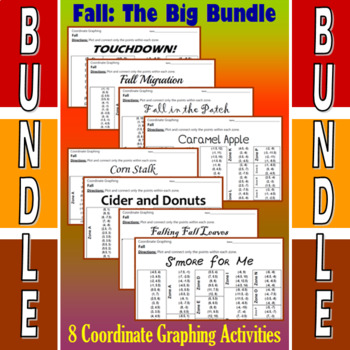 Fall - The Big Bundle - 8 Coordinate Graphing Activities