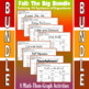 Fall - The Big Bundle - 8 Math-Then-Graph Activities - Solve 15 Systems