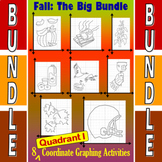 Fall - The Big Bundle of 8 Quadrant I Coordinate Graphing