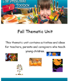 Fall Thematic Unit for Preschool and Kindergarten