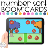 Fall Theme 0-20 Number Sort Boom™ Cards - Distance Learnin