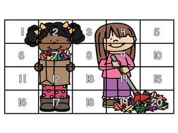 Fall Theme 20 Chart, 50 Chart, 100 Chart Mystery Picture Puzzles!