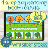 Fall Theme 4 Step Sequencing Boom Cards™ with Short Stories