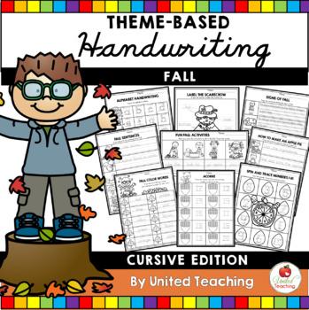 Fall Theme Based Handwriting Lessons (Cursive Edition)