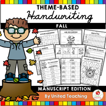 Fall Theme Based Handwriting Lessons (Manuscript Edition)