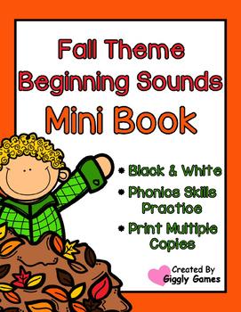 Fall Theme Beginning Sounds Mini Book