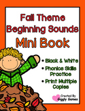 Fall Theme Beginning Sounds Mini Book