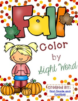 Fall Theme Color by Sight Word