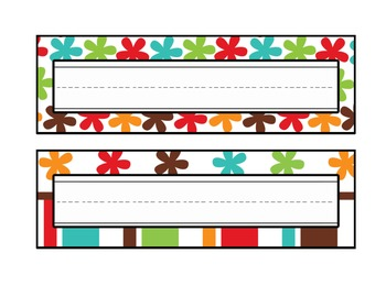Fall Theme Desk Name Plates