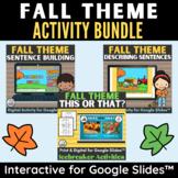Fall Theme ELA Activities and Icebreakers Bundle in Digita