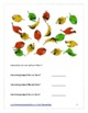 Fall Theme Elementary Special Education Math Packet