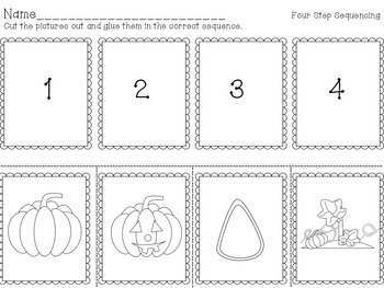 Autumn Four Step Sequencing Literacy Center